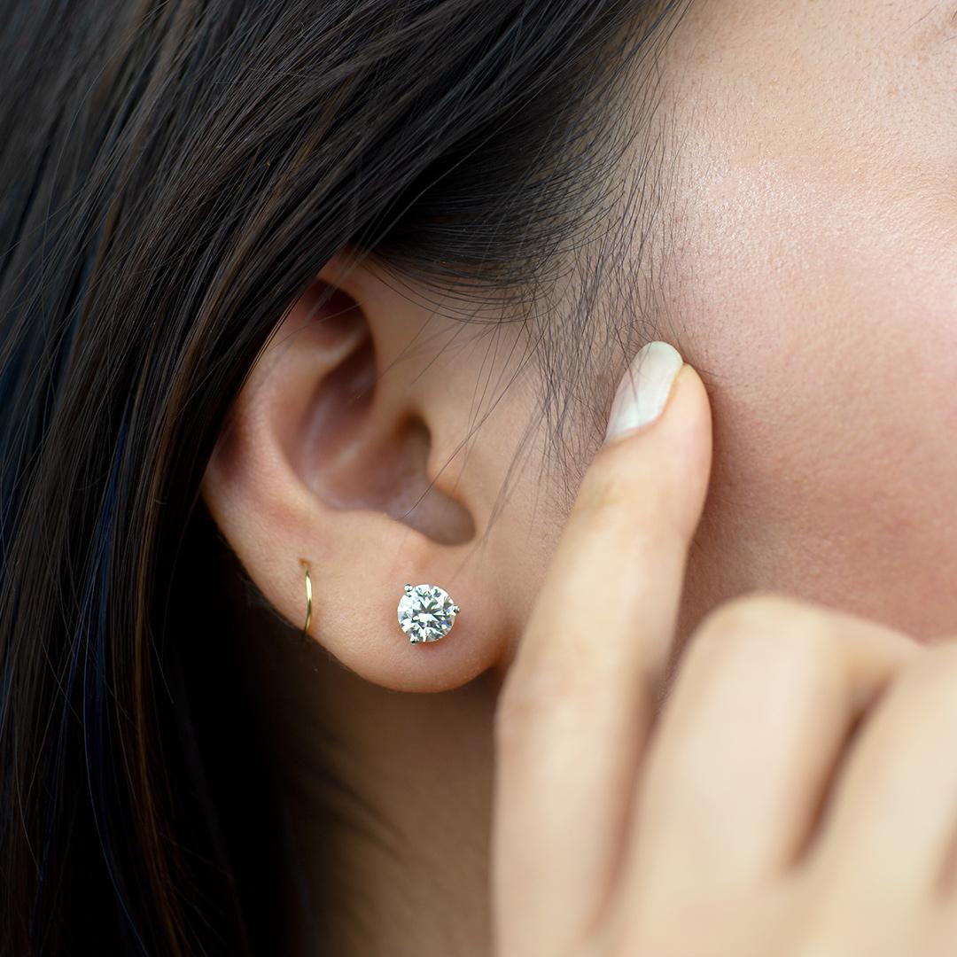 Lab stud earrings price-mobile